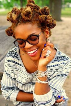 Bantu knots short hairstyles for black women