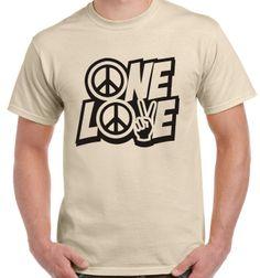 One love peace CND T-shirt festival