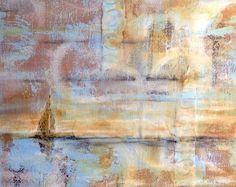 Artist, Pamela Vosseller, mixed media on canvas.