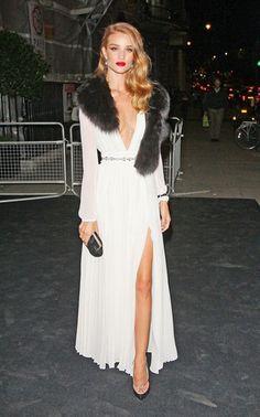 Fur Fox Collar Dress - Beautiful!