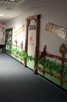 cool western theme hallway