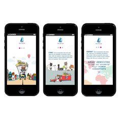 Design of mobile website for a French transport company. Projekt mobilnej strony internetowej dla francuskiej firmy transportowej.