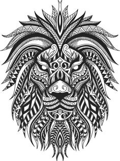 Hai Tattoos, Tribal Lion Tattoo, Lion Head Tattoos, Tattoos For Guys, Leo Tattoo Designs, Polynesian Tattoo Designs, Mandala Tattoo Design, Lion Tattoo Sleeves, Sleeve Tattoos