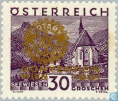 Stamps - Austria - Rotary conference
