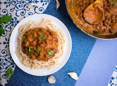 Spaghetti With Kidney Beans Bolognese