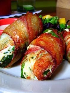 Bacon-Wrapped Jalepeno Poppers. #Recipes Using #Ingredients Already In Your Kitchen #Pantry