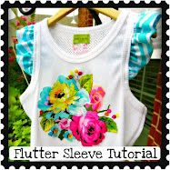 perry jayne handmade: Tutorial: How to add a Ruffled flutter sleeve to a tank top