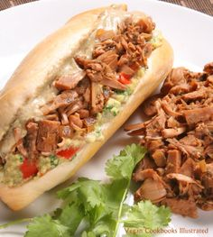 Vegan Carnitas Sandwiches from the cookbook Vegan Sandwiches Save The Day