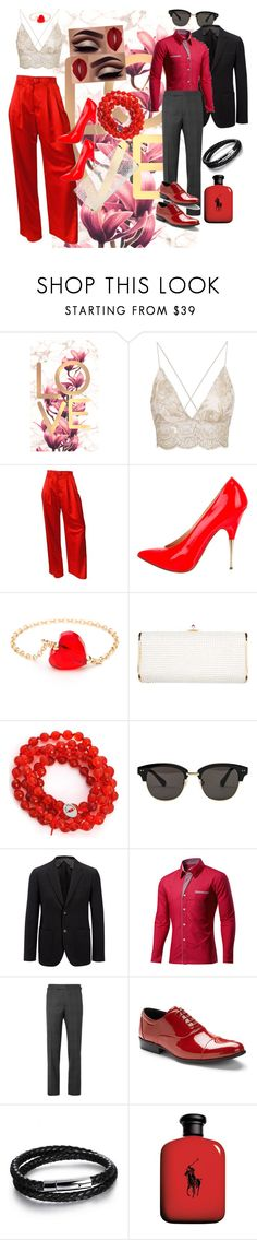 """valentine days #2"" by delpilardiazfiorela ❤ liked on Polyvore featuring ESCADA, Christian Louboutin, Judith Leiber, Alchemy Jewelry, Gentle Monster, Joseph, Tom Ford, Stacy Adams, N'Damus and John Lewis"
