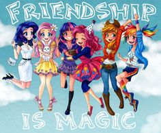 my little pony human form | Friendship is Magic- The Ponies as Humans - my-little-pony-friendship ...