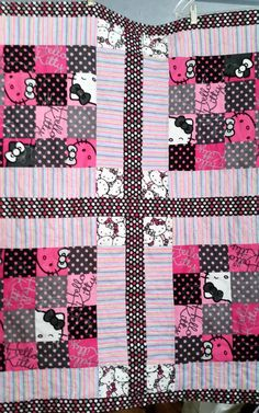 Personalized camouflage minky baby toddler quiltcustom handmade hello kitty baby quilthello kitty blanketcustom baby blanket quiltminky baby blankethandmade patchwork hello kitty blanket quilt negle Image collections
