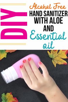 DIY Alcohol Free Hand Sanitizer with Aloe and Essential Oil Making an alcohol free hand sanitizer is so easy. This DIY hand sanitizer recipe calls for essential oils, witch hazel and aloe vera gel. Making Alcohol Free Hand Sanitizer, Natural Hand Sanitizer, Hand Sanitizer Dispenser, Natural Disinfectant, Disinfectant Spray, Best Essential Oils, Pure Essential, Thieves Essential Oil, Young Living