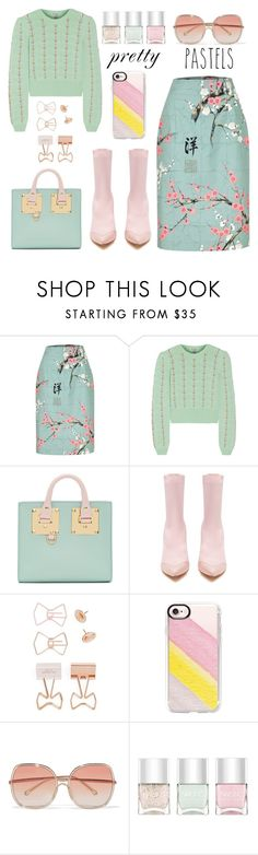 """Pretty Pastel"" by pure-vnom ❤ liked on Polyvore featuring Miu Miu, Sophie Hulme, Toga, Ted Baker, Casetify, Chloé and Nails Inc."
