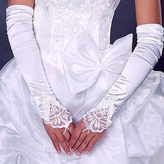 Spandex Satin Fingerless Opera Length Wedding/Party Glove – USD $ 5.91