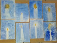 Advent 3rd grade paintings