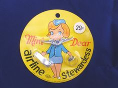 VINTAGE  Shiny Happy People Toy Airline Stewardess by FunkAndMore, $7.00