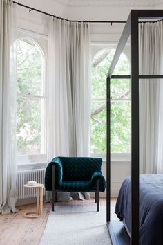 Yes, the main function of a bedroom is to be a haven for sleep, but Suvalsky says the best rooms are multipurpose. A simple, low-cost way to tweak your space is by rearranging furniture and. Victorian Window Treatments, Victorian Windows, Victorian Terrace House, Modern Victorian, Victorian Homes, Interior Architecture, Interior Design, Interior Doors, Rearranging Furniture