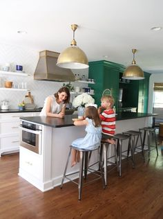 More than a year after starting the renovation, I'm finally sharing our completed green and white kitchen. The renovation process itself took about ten weeks,but between eating and cleaning (and eating again), it has taken me a while to get the finishing touches just right.  This is what thekitchen looked like before we moved …