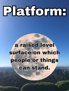 #freetoedit #dictionary #platform Platform means a raised level surface on which people or things can stand.