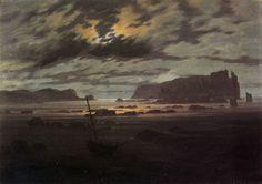Friedrich, Caspar David: Nordische See im Mondlicht