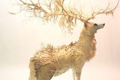 Deer by Sculptor Ellen Jewett,
