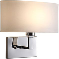 @Overstock - A polished nickel finish highlights this Geneva wall sconce. This light fixture features an ivory shade.http://www.overstock.com/Home-Garden/Geneva-Polished-Nickel-Wall-Sconce/5207227/product.html?CID=214117 $64.99