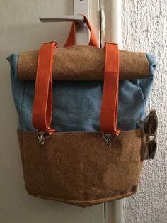 Makerist - patron sac à dos toucan bi-matière liège et jean! - Créations de couture - 3