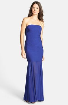 JS Collections JS Collection Drop Waist Trumpet Gown available at #Nordstrom