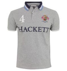 polo ralph lauren clearance Hackett London Rowing Club Logo Polo Shirt Grey [Shop 1647]