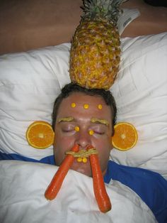 put a pineapple on their noggin!