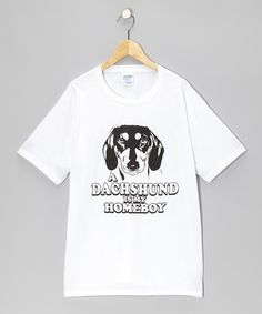 White 'Dachshund Is My Homeboy' Tee - Kids & Adults by Crazy Dog on #zulily today!