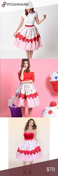 Cupcake Sprinkle Vintage Cute Swing Skirt NWT. Brand new and unworn. No trades. Price is firm. Skirts Midi