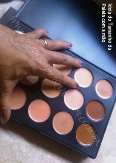 Paleta com 15 Cores de Corretivo Jasmyne - Tudo de Maquiagem