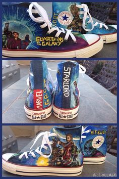 e58afd0deee3 Guardians of the galaxy converse by koolbeansdesigns on Etsy Galaxy Converse