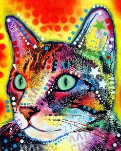 Very Curious Cat Painting