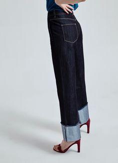 Pantalón vaquero ancho - Colección   Adolfo Dominguez shop online
