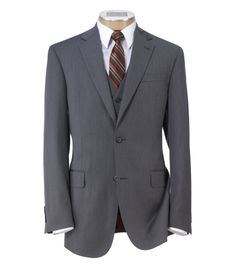 Joseph 2 Button Wool Vested Suit with Pleated Front Trousers Extended Sizes