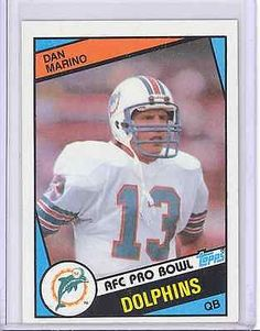 A Dan Marino rookie card is one of the best investments anyone can make. Marino will always be remembered as one of the greatest quarterbacks in NFL history. Football Trading Cards, Football Cards, Nfl Football, Baseball Cards, American Football, Football Players, Baseball Pics, Football Memes, School Football