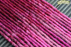 Adore 10 DE Crochet Synthetic Dreads - pink red accent