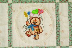 Old toys bear quilt embroidery design - Old Toys art and embroidery - Gallery - Machine embroidery forum