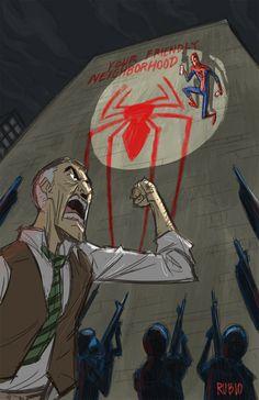 Spider-Man & J. Jonah Jameson by Bobby Rubio