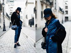 Get this look: http://lb.nu/look/8617157  More looks by Laugh of Artist: http://lb.nu/laughofartist  Items in this look:  Asos Cap, Hera Combinaison, Puma Baskets, Chanel Bag, Zara Blouson   #casual #minimal #street