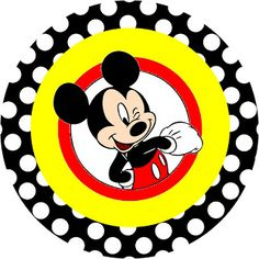 Inspired in Mickey Mouse: Free Party Printables in Red and Black.