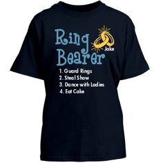 Ring Bearer List Tee Youth Gildan Heavy Cotton Crew Neck Tee