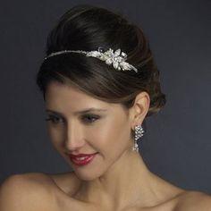 Ivory Pearl and Rhinestone Diamante Wedding Headband - simply elegant!