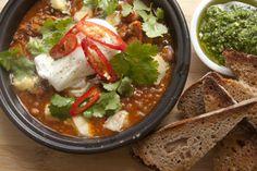 Kokako's hearty pinto bean and puy lentil stew – Recipes – Bite Fresh Coriander, Coriander Seeds, Great Vegan Recipes, Lentil Stew, Pinto Beans, Smoked Paprika, Lentils, Casserole Recipes, Veggies
