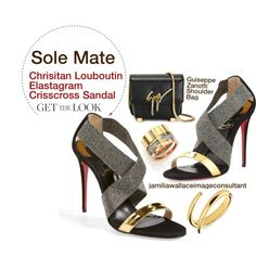 A fashion look from August 2015 featuring Christian Louboutin sandals, Christian Louboutin pumps en Giuseppe Zanotti shoulder bags. Browse and shop related loo…