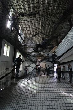 NET  A community hammock by Numen/For Use mounted at Z33 – Huis voor actuele kunst, in Hasselt