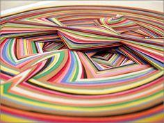 jen stark paper sculpture | Paperart by Jen Stark)