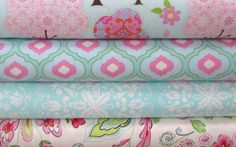 4 Half Yard Bundle PRETTY LITTLE THINGS by Dena Designs / FreeSpirit Pink / Fabric Trees, Jada, Ella, Emma